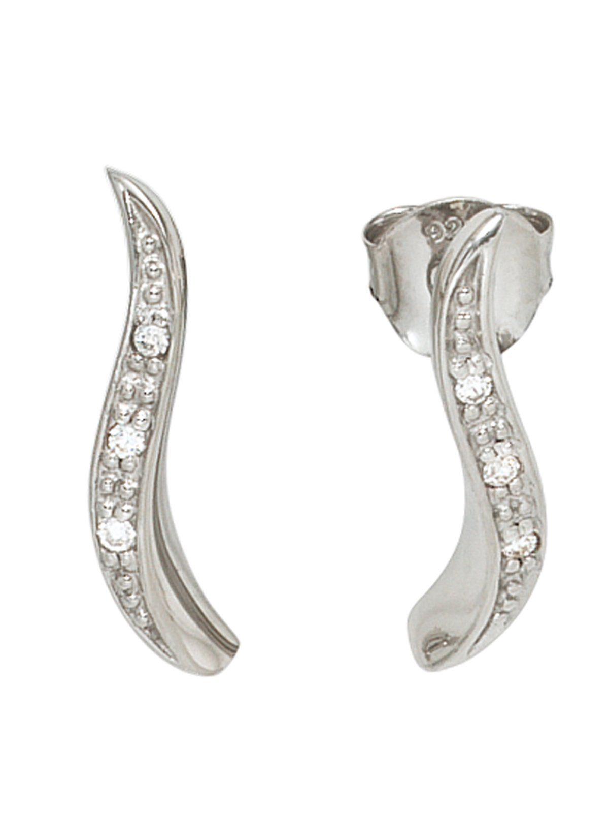 Adelia´s Paar Ohrstecker 925 Silber mit Zirkonia