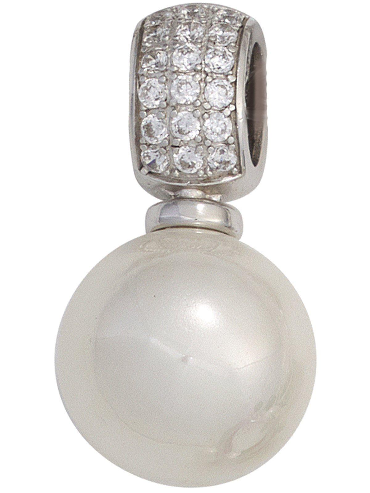 Adelia´s Kettenanhänger »Anhänger« 925 Silber mit Zirkonia Ø 15,90 mm | Schmuck > Halsketten > Ketten ohne Anhänger | Silber | Adelia´s
