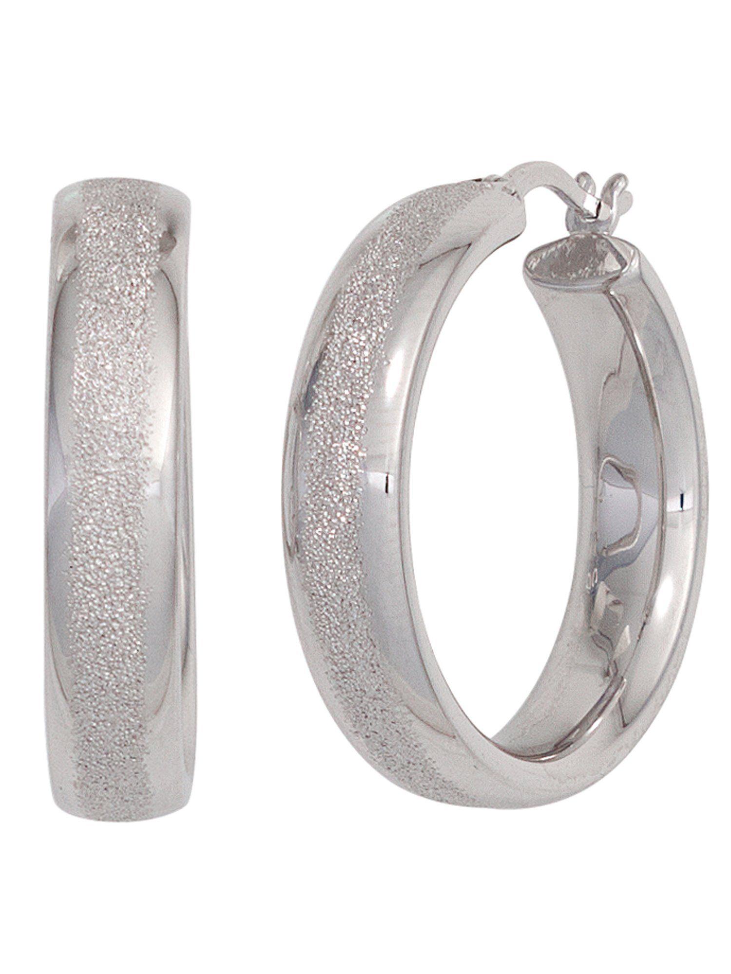 Adelia´s Paar Creolen 925 Silber Ø 26,70 mm
