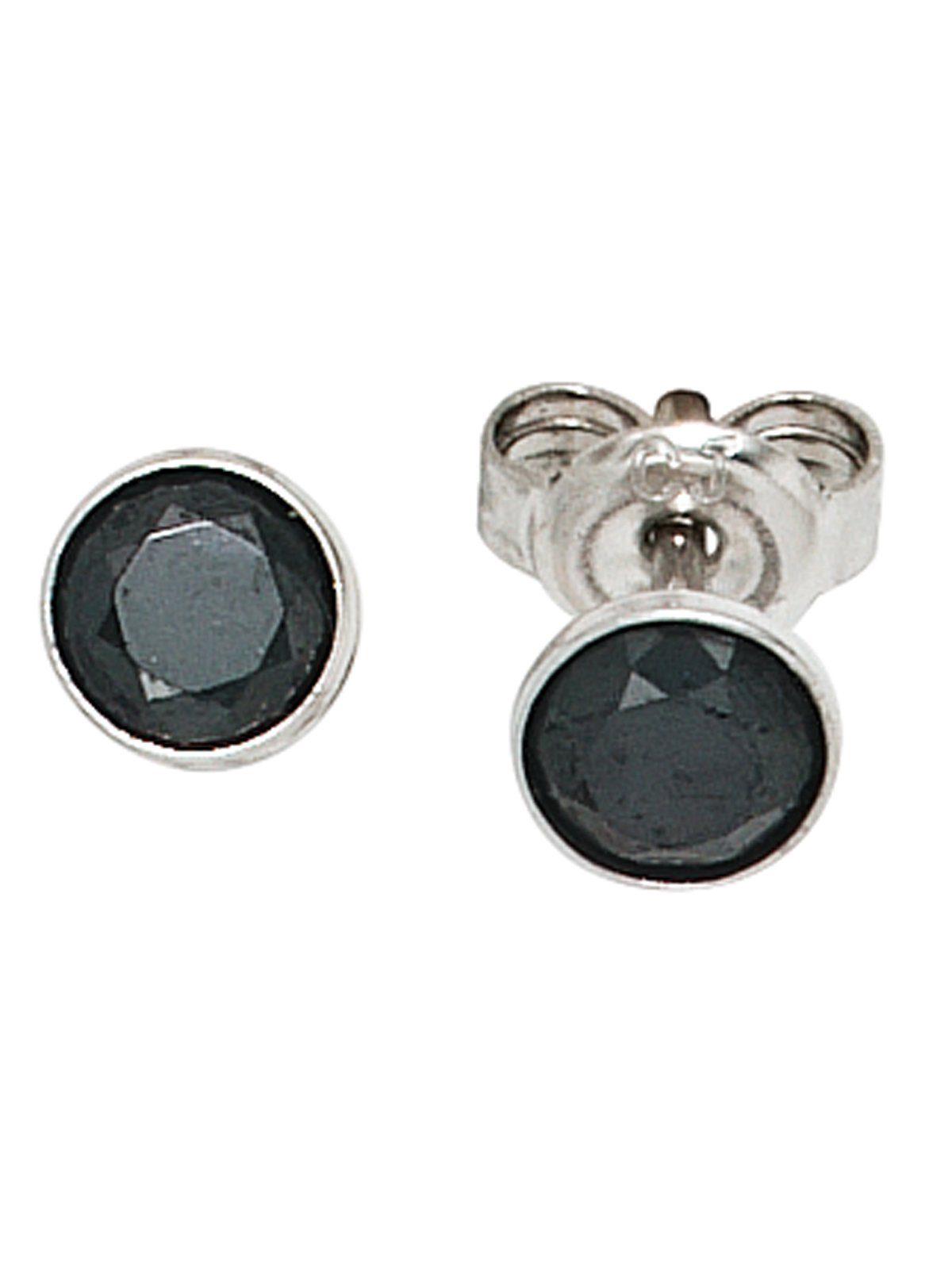 Adelia´s Paar Ohrstecker 925 Silber mit Zirkonia Ø 5,40 mm