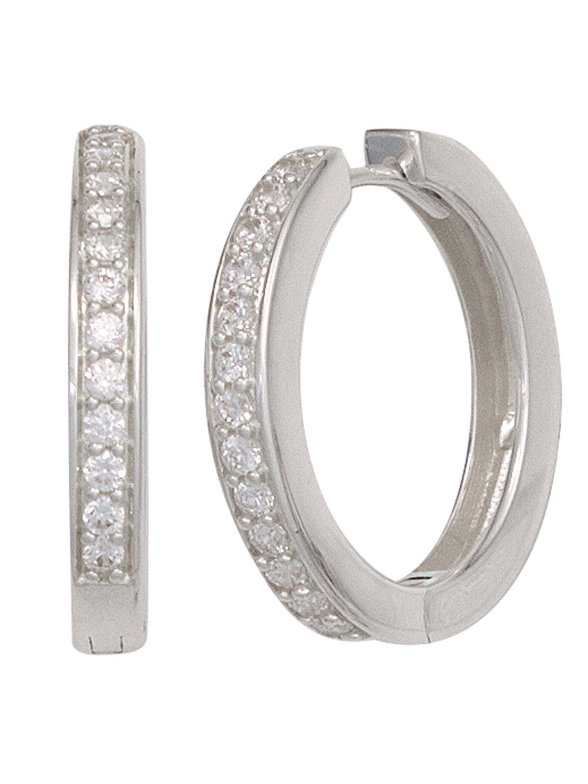 Adelia´s Paar Creolen 925 Silber mit Zirkonia Ø 20,70 mm