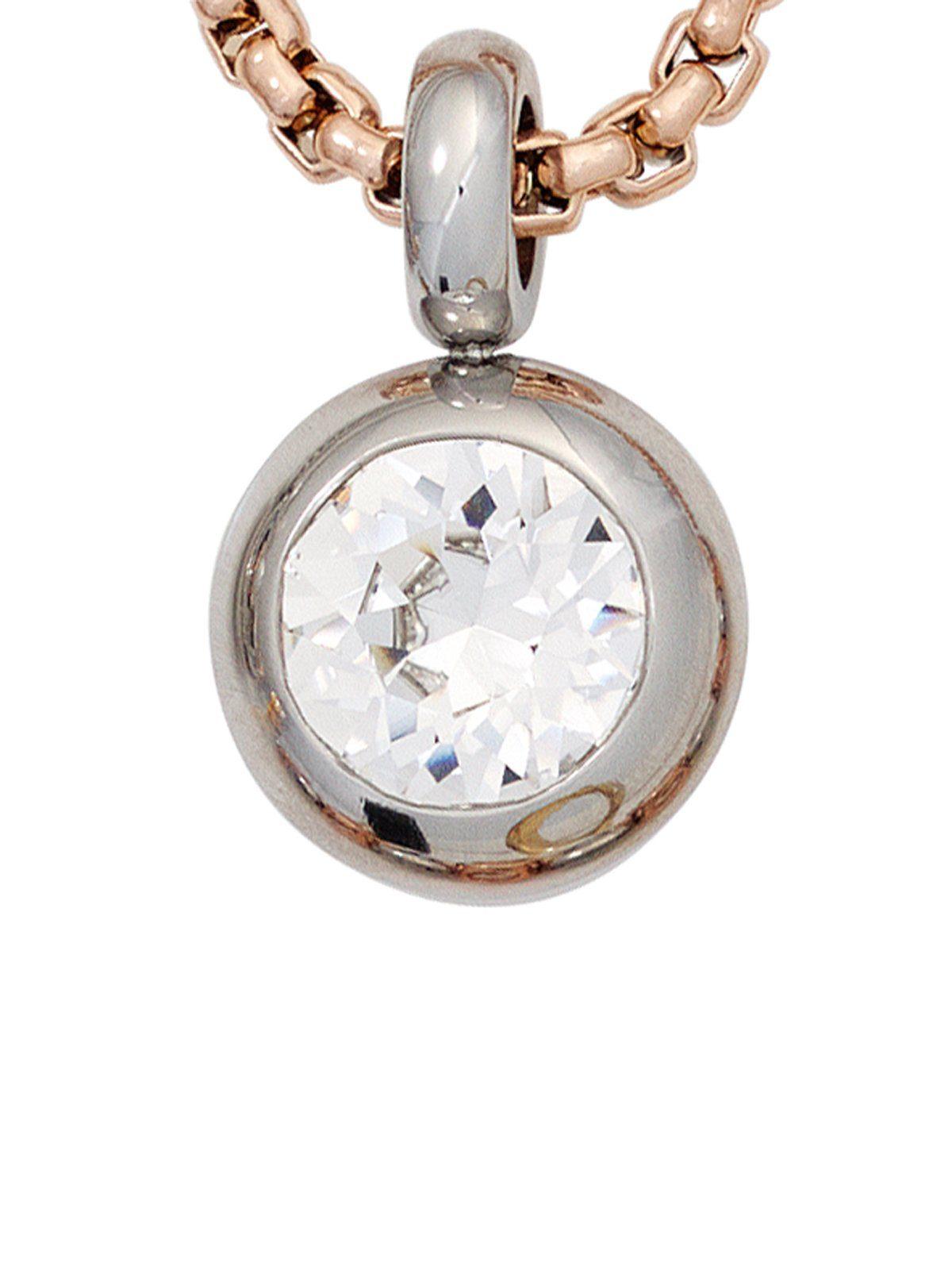 Adelia´s Kettenanhänger »Anhänger«, Edelstahl mit Swarovski Kristall