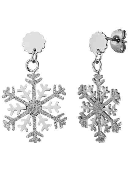 Adelia´s Paar Ohrhänger »Schneeflocke« Edelstahl