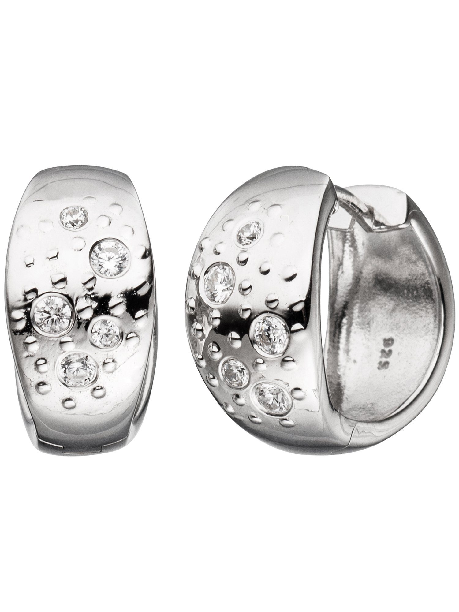 Adelia´s Paar Creolen 925 Silber mit Zirkonia Ø 16,80 mm