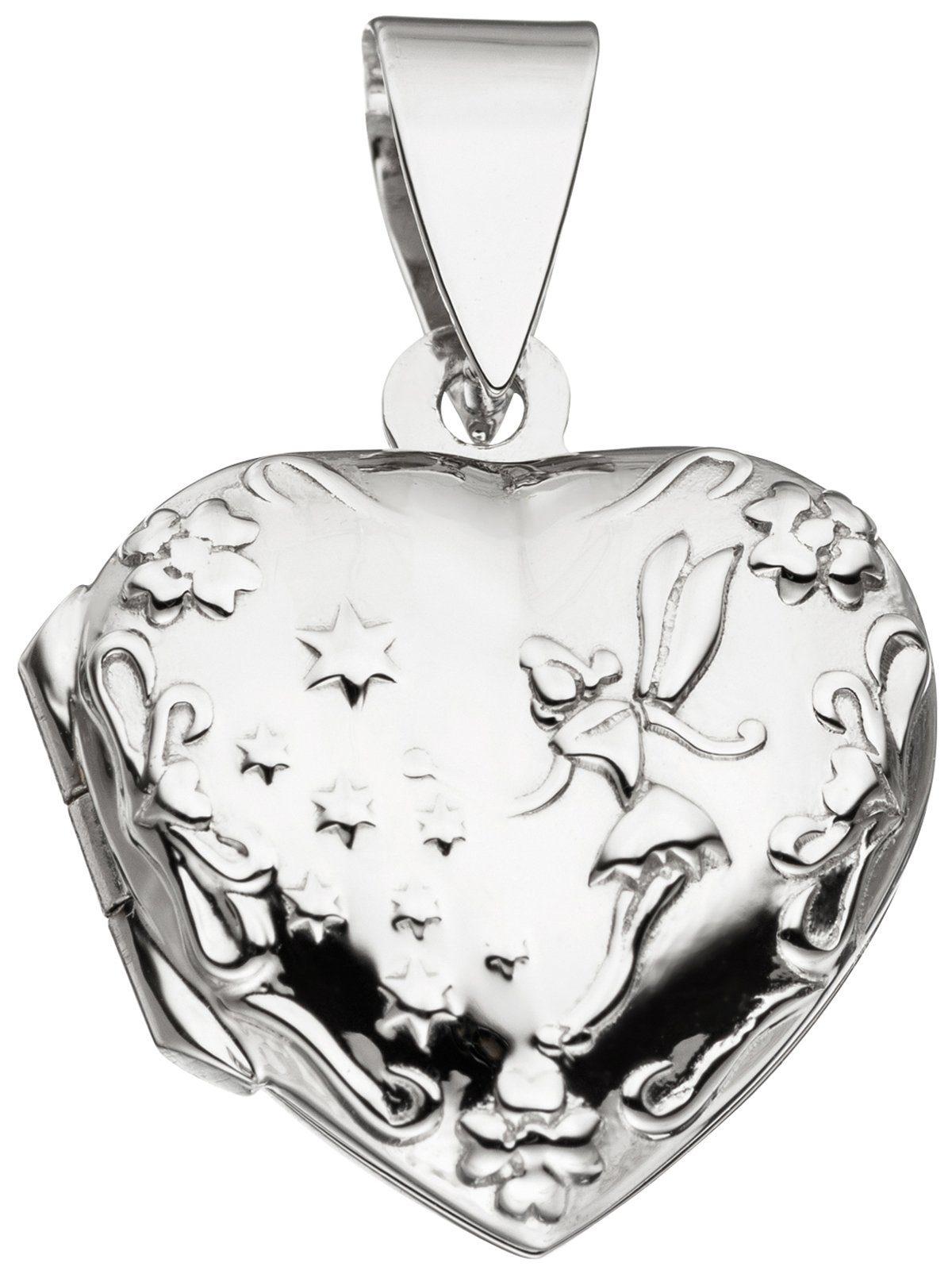 Adelia´s Kettenanhänger »Medaillon believe Anhänger«, 925 Silber
