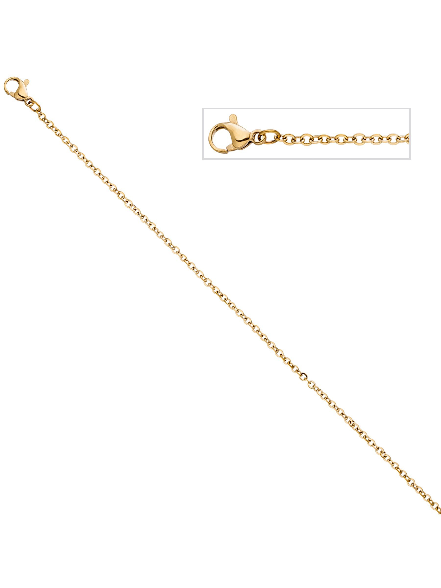 Adelia´s Kette ohne Anhänger Edelstahl L - 47 cm | Schmuck > Halsketten > Ketten ohne Anhänger | Goldfarben | Adelia´s