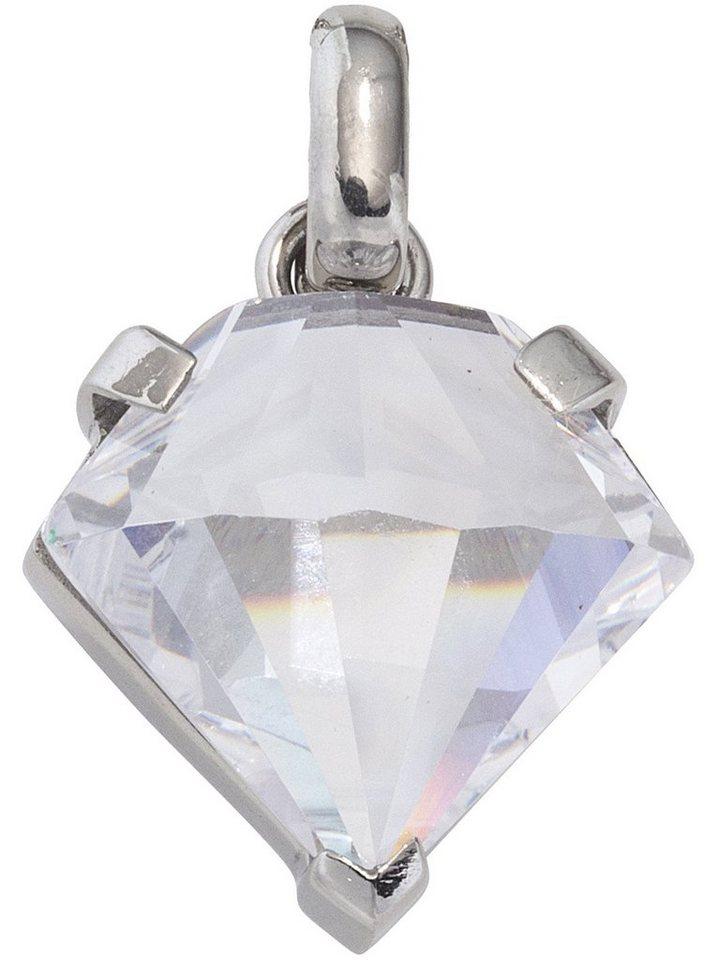 Adelia´s Kettenanhänger »Diamant Anhänger« Edelstahl mit Zirkonia