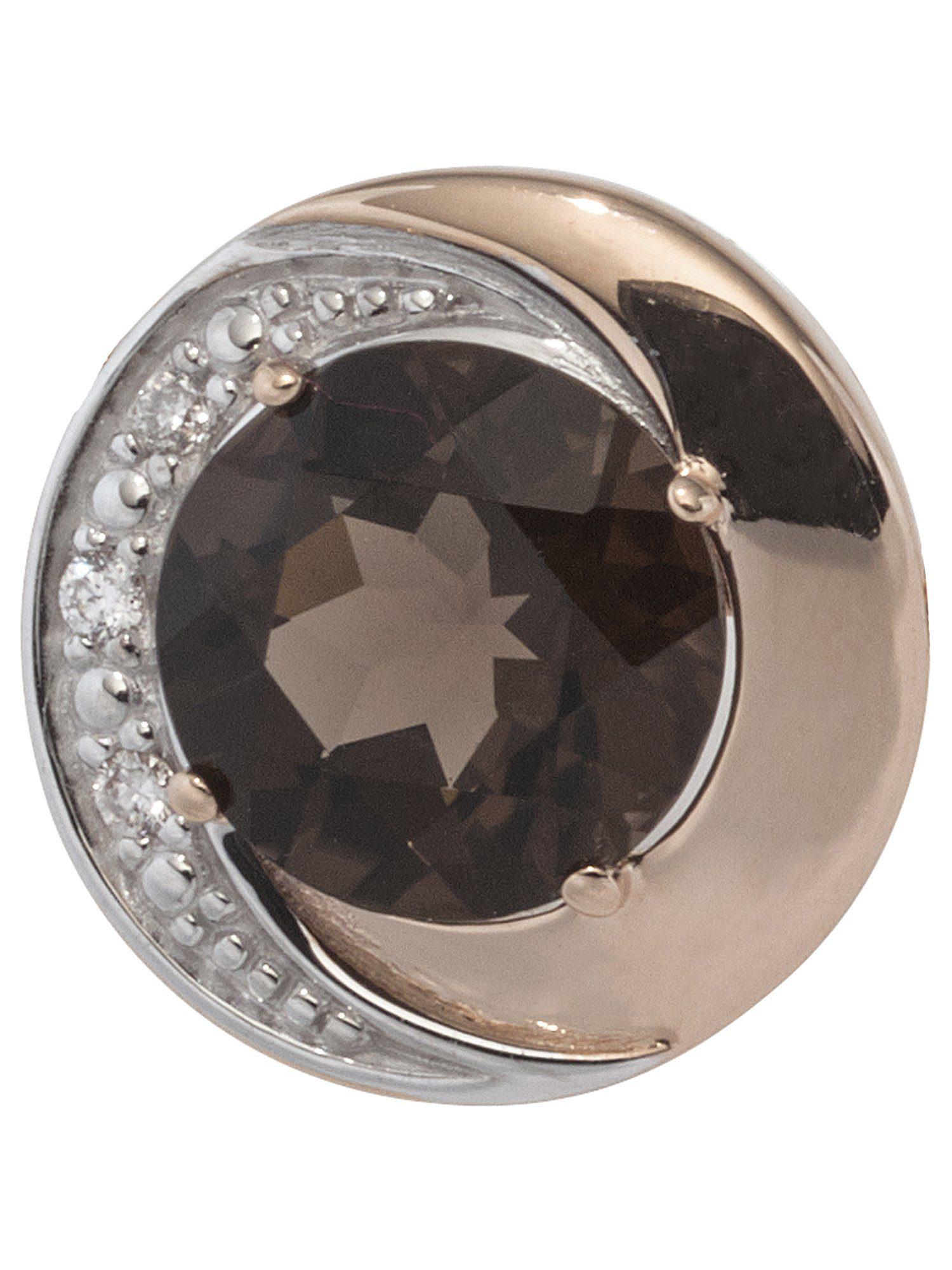 Adelia´s Kettenanhänger »Anhänger«, 585 Gold mit Diamant Quarz