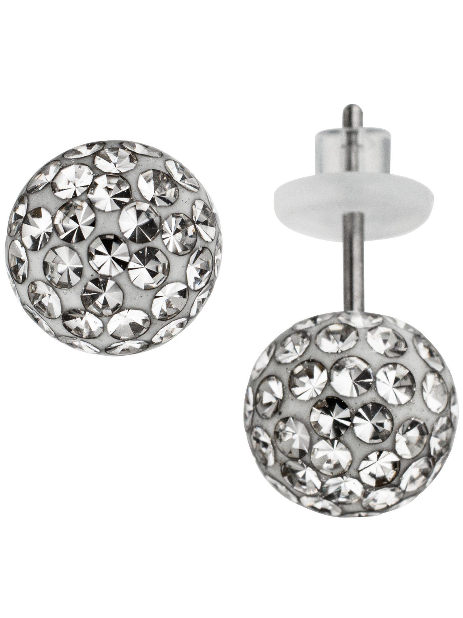 Adelia´s Paar Ohrstecker Edelstahl mit Swarovski Kristall Ø 8,00 mm