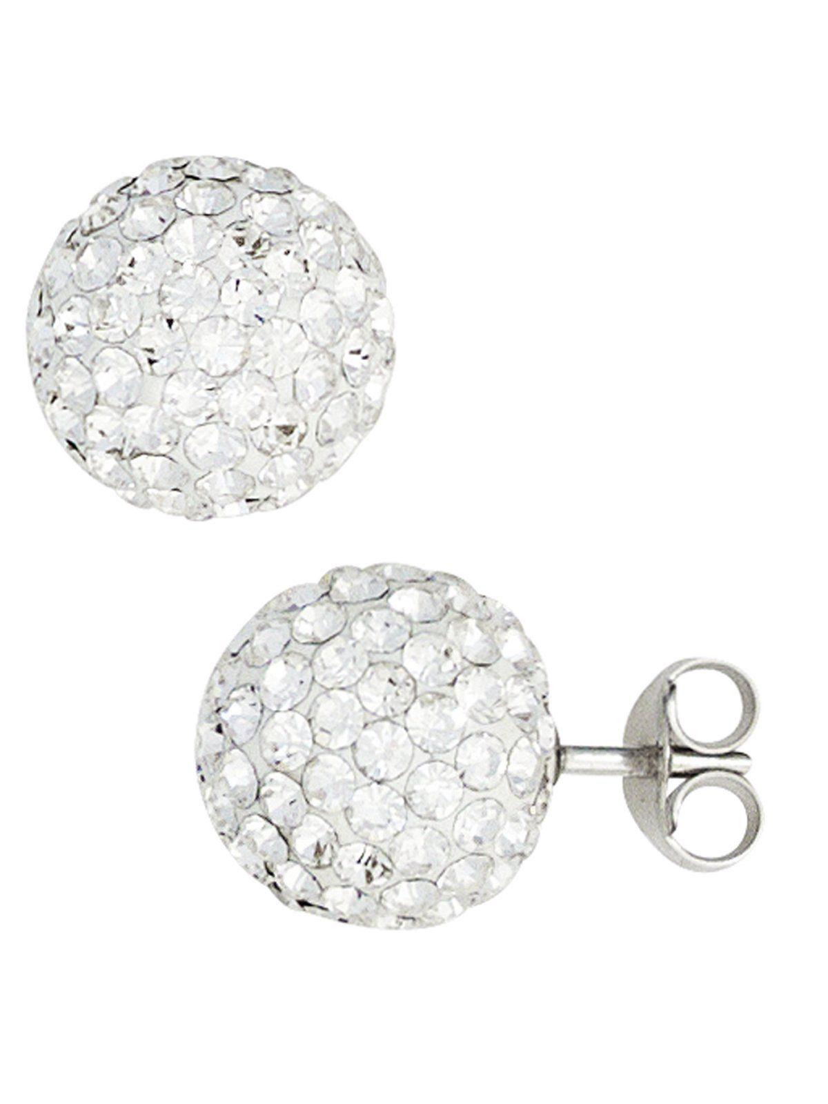 Adelia´s Paar Ohrhänger 925 Silber mit Kristall Ø 9,90 mm