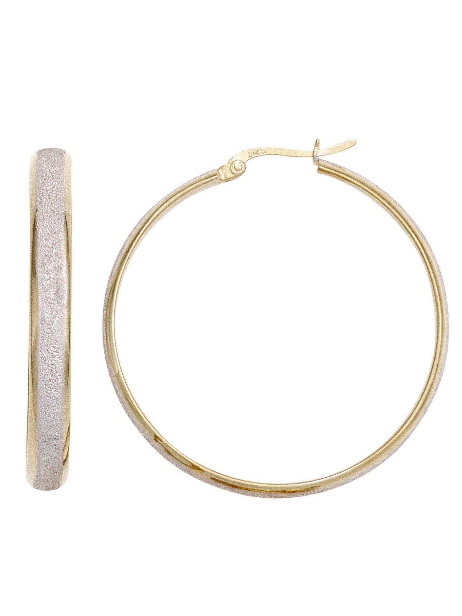 Adelia´s Paar Creolen 925 Silber Ø 39,60 mm