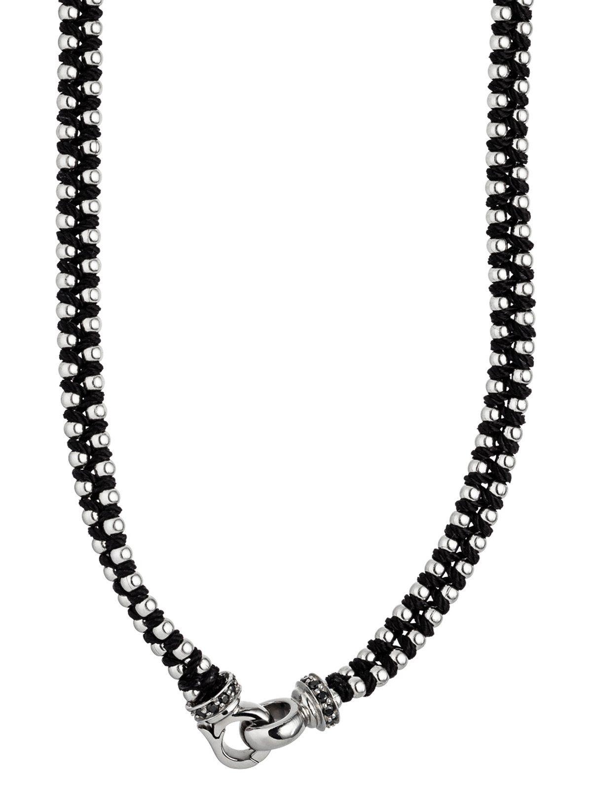 Adelia´s Kette ohne Anhänger Edelstahl mit Swarovski Kristall L - 57 cm