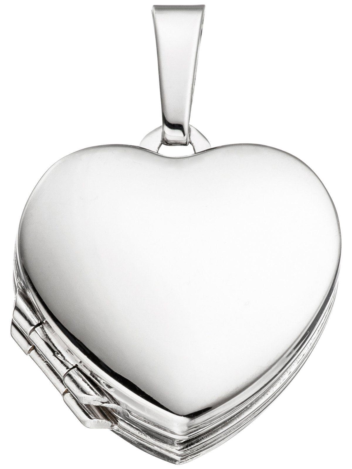 Adelia´s Kettenanhänger »Medaillon Herz Anhänger« 925 Silber