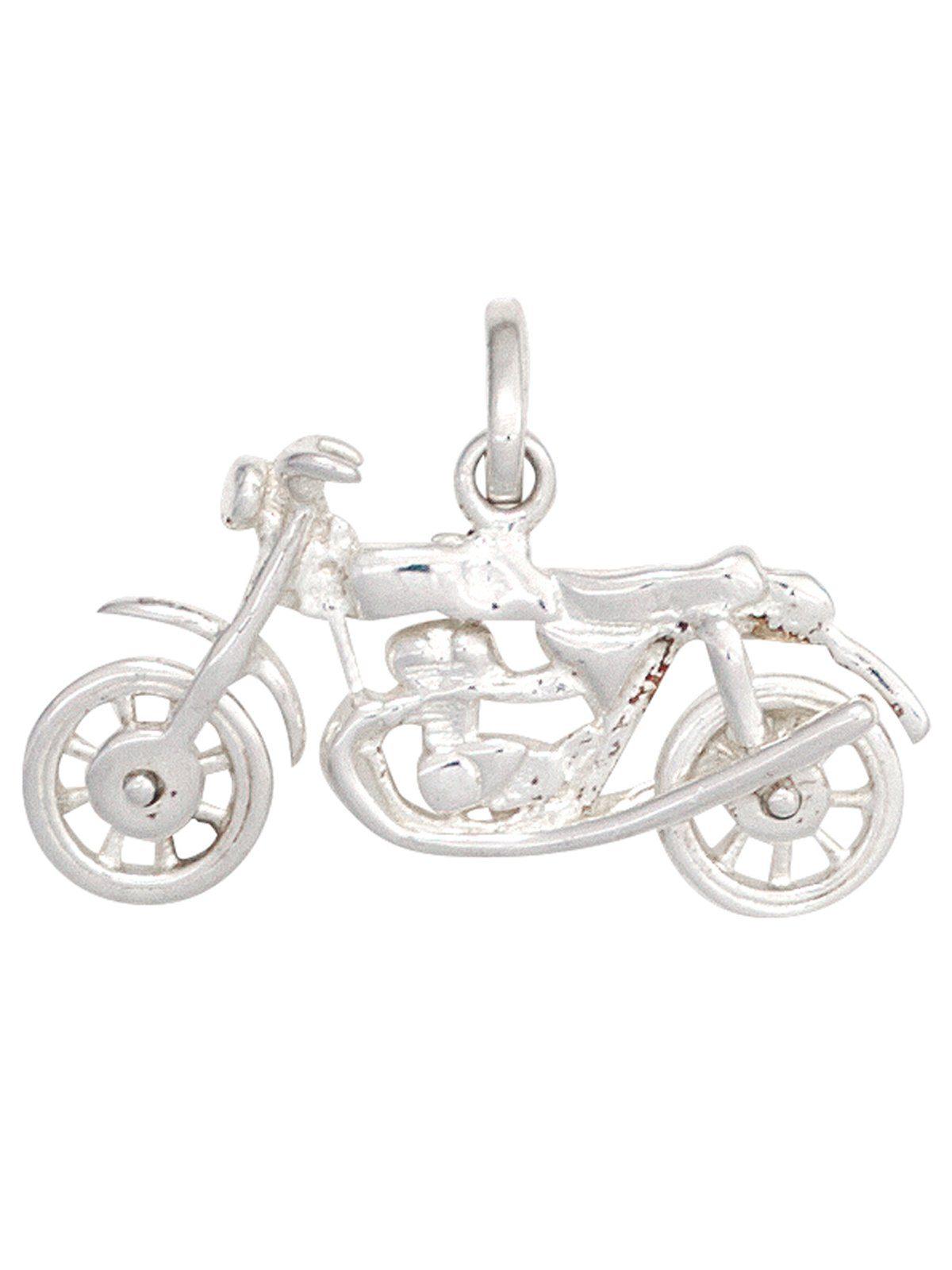 Adelia´s Kettenanhänger »Motorrad Anhänger« 925 Silber