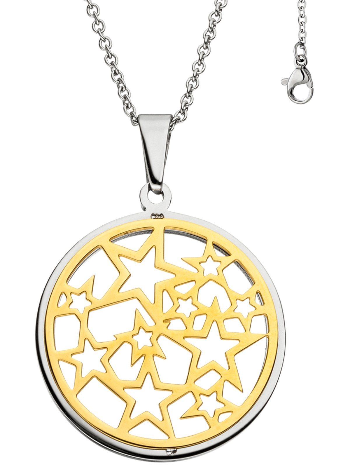 Adelia´s Kettenanhänger »Sterne Anhänger« Edelstahl mit Kette L - 50 cm | Schmuck > Halsketten > Ketten ohne Anhänger | Goldfarben | Adelia´s