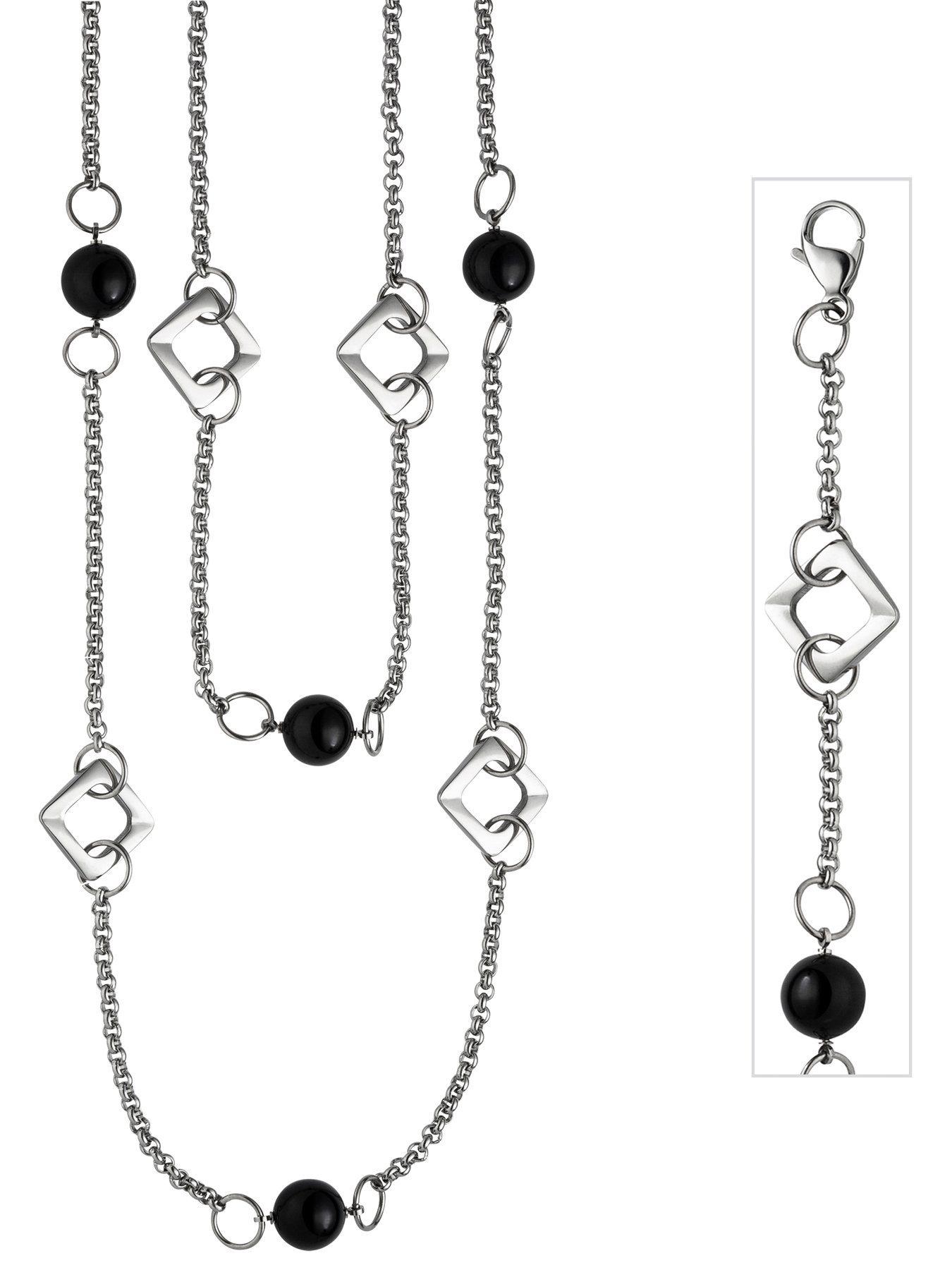 Adelia´s Kette ohne Anhänger Edelstahl mit Achat L - 55 cm | Schmuck > Halsketten > Ketten ohne Anhänger | Adelia´s
