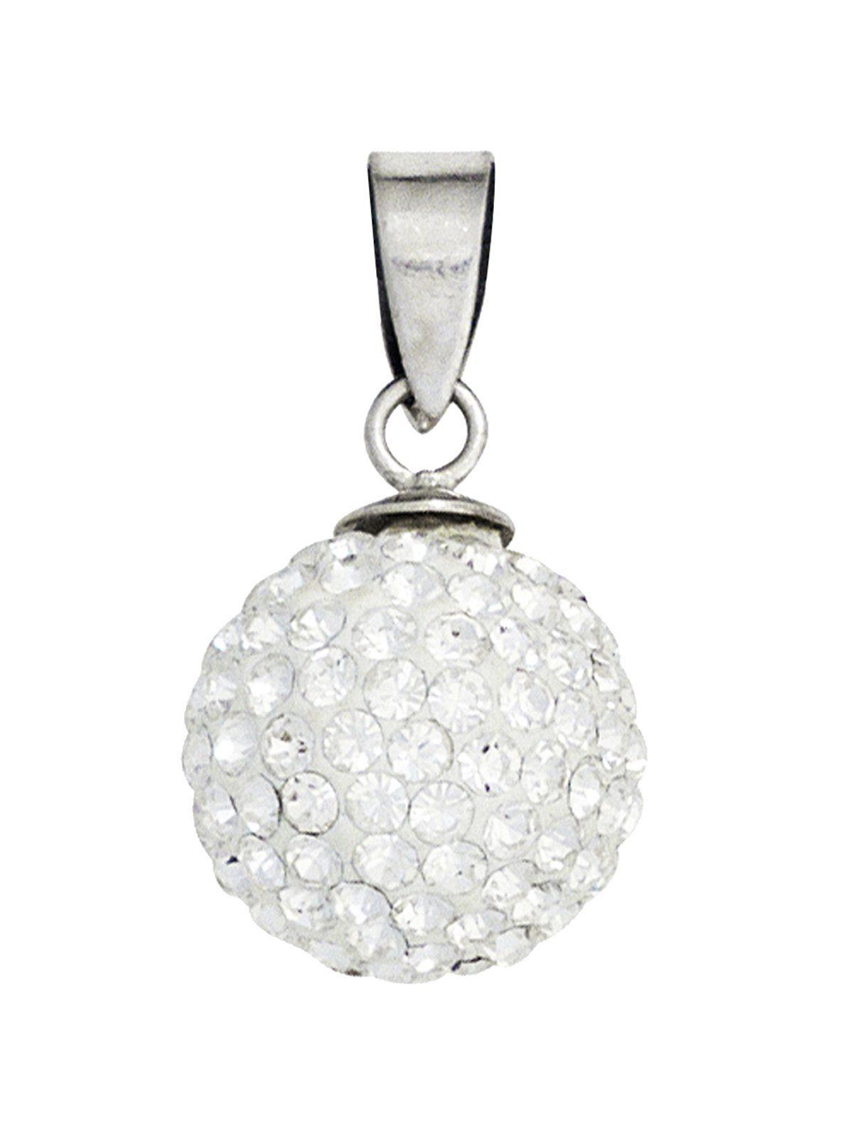 Adelia´s Kettenanhänger »Kugel Anhänger«, 925 Silber mit Kristall Ø 11,90 mm
