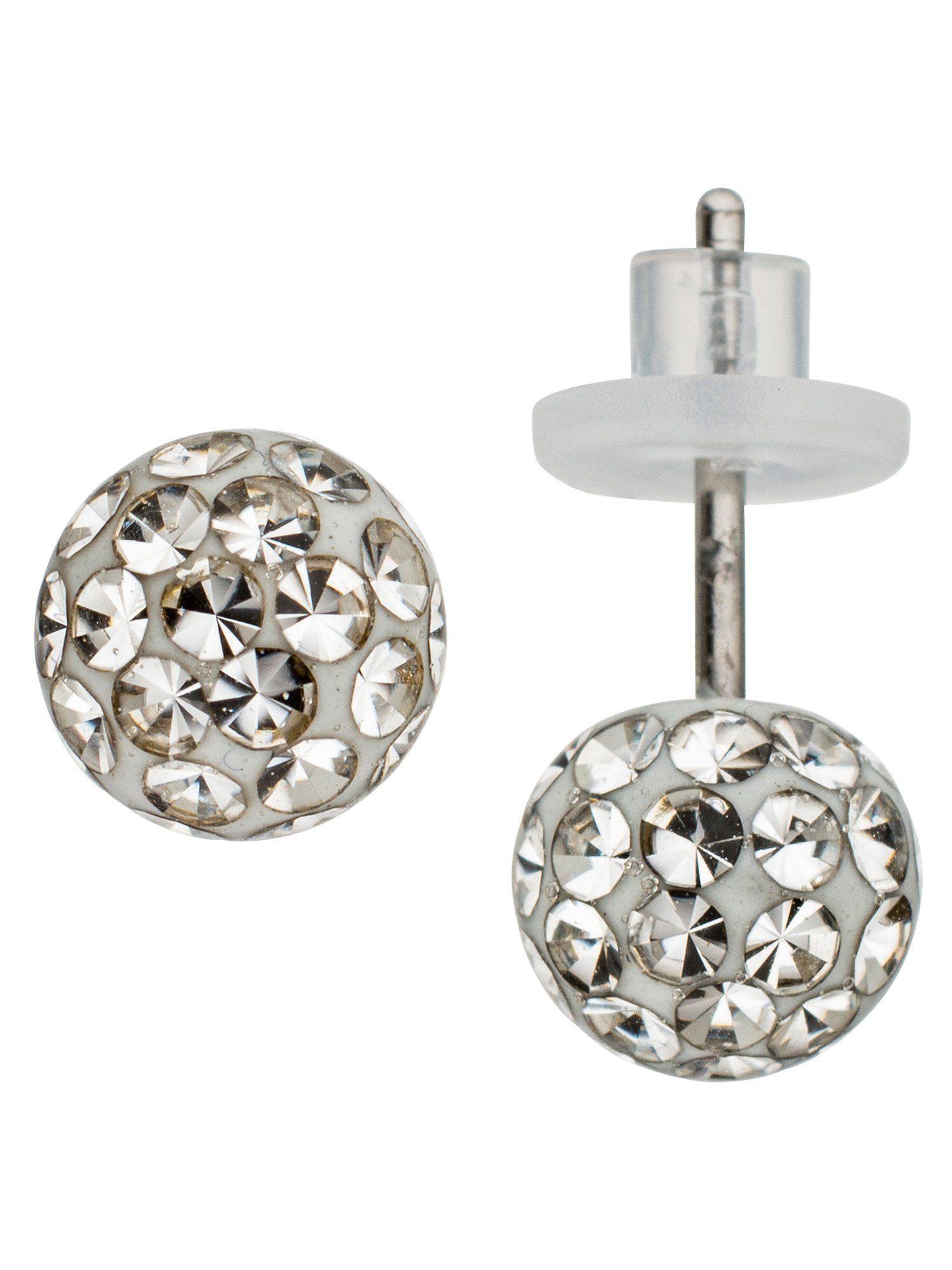 Adelia´s Paar Ohrstecker Edelstahl mit Swarovski Kristall Ø 6,20 mm