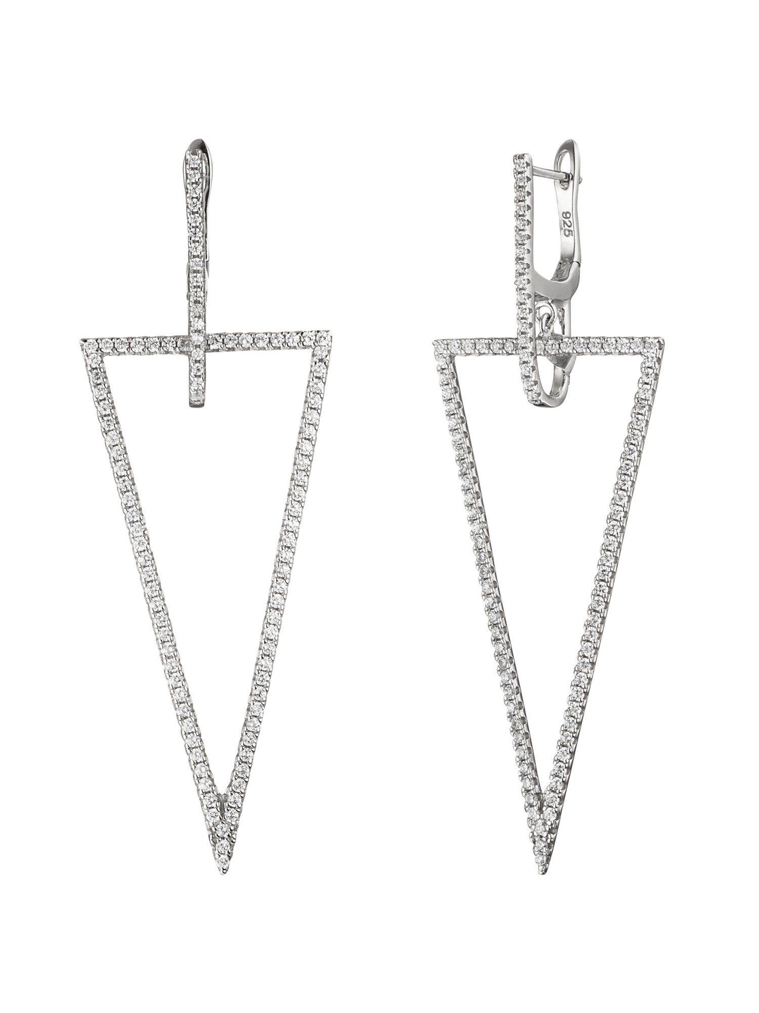 Adelia´s Paar Creolen, 925 Silber mit Zirkonia