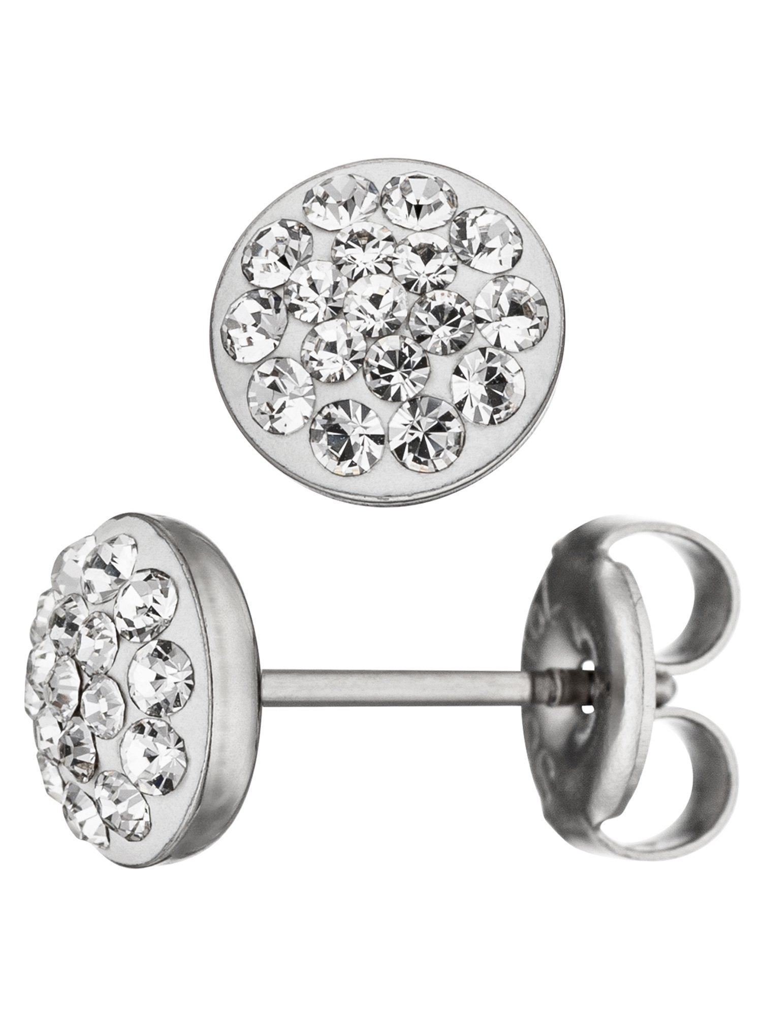 Adelia´s Paar Ohrstecker Edelstahl mit Swarovski Kristall Ø 7,10 mm