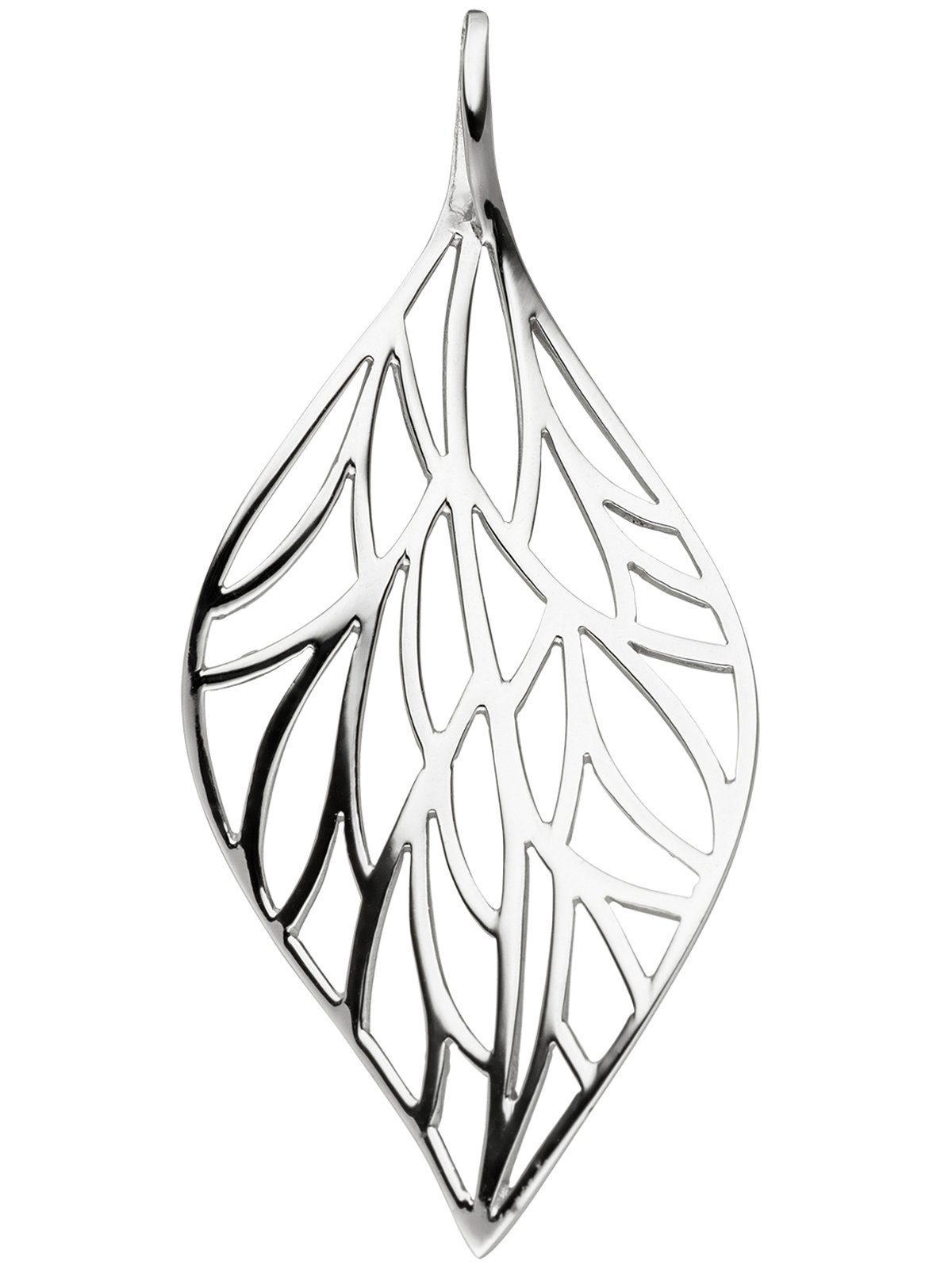Adelia´s Kettenanhänger »Blatt Anhänger« 925 Silber