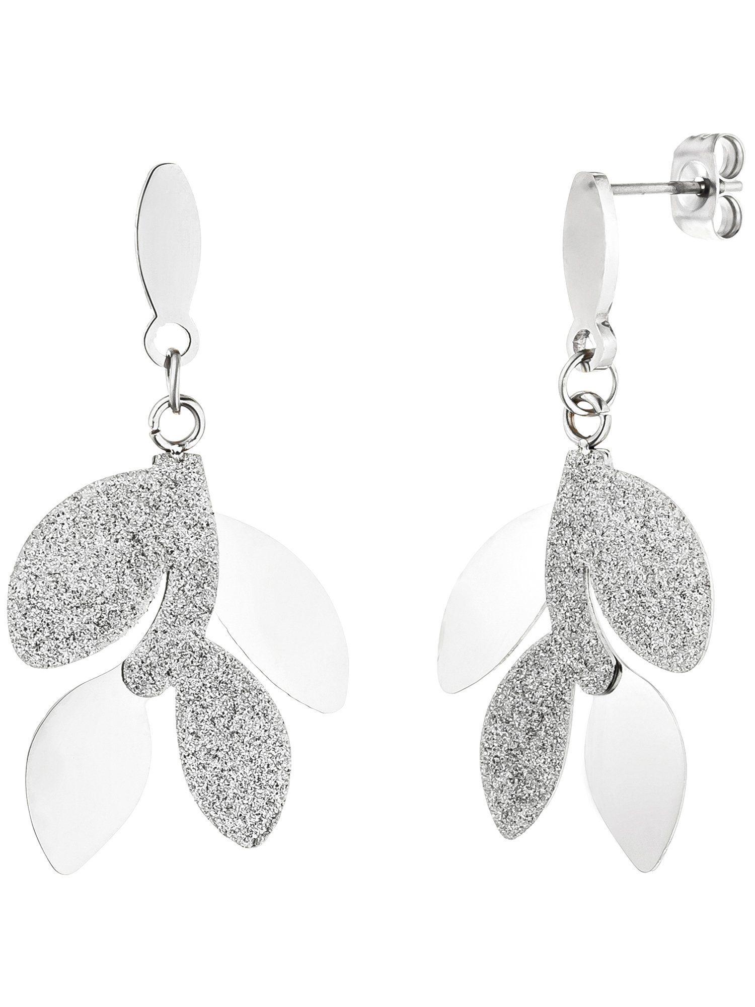 Adelia´s Paar Ohrhänger »Blätter«, Edelstahl