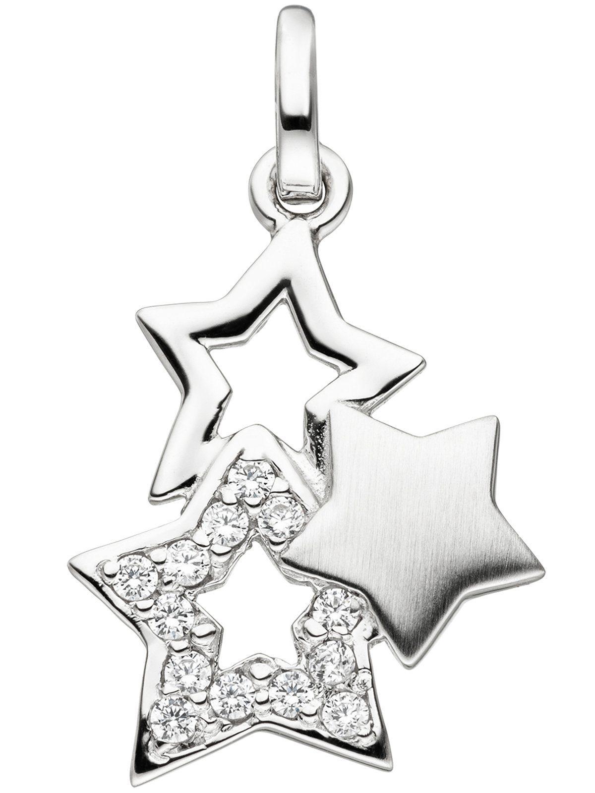 Adelia´s Kettenanhänger »Sterne Anhänger« 925 Silber mit Zirkonia