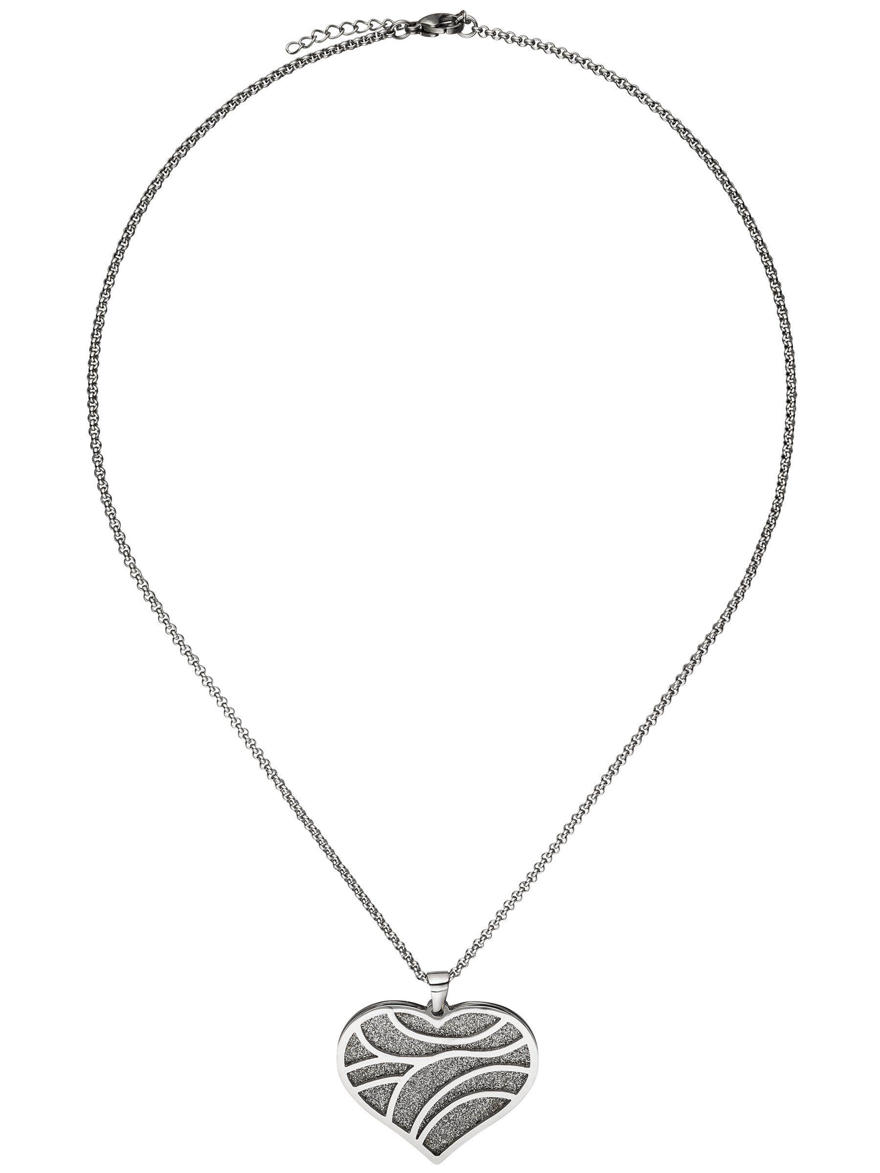 Adelia´s Kettenanhänger »Herz Anhänger« Edelstahl L - 47 cm