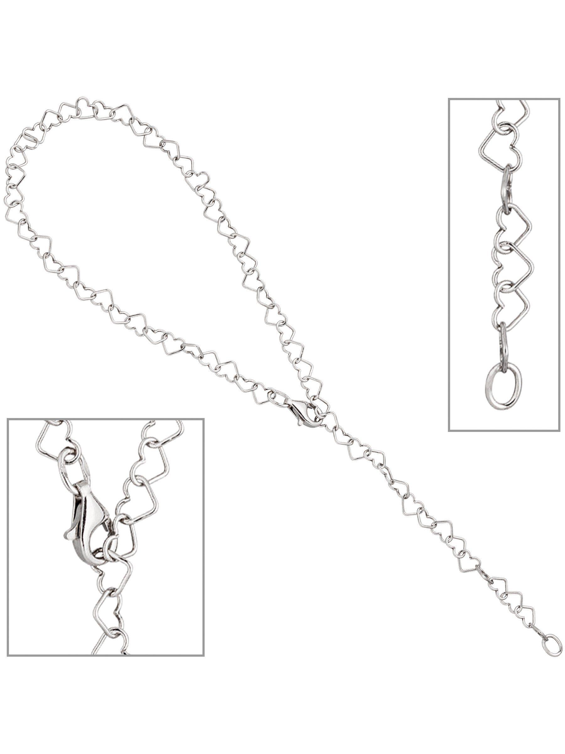 Adelia´s Fußkette mit Anhänger »Herz« 925 Silber L - 27 cm