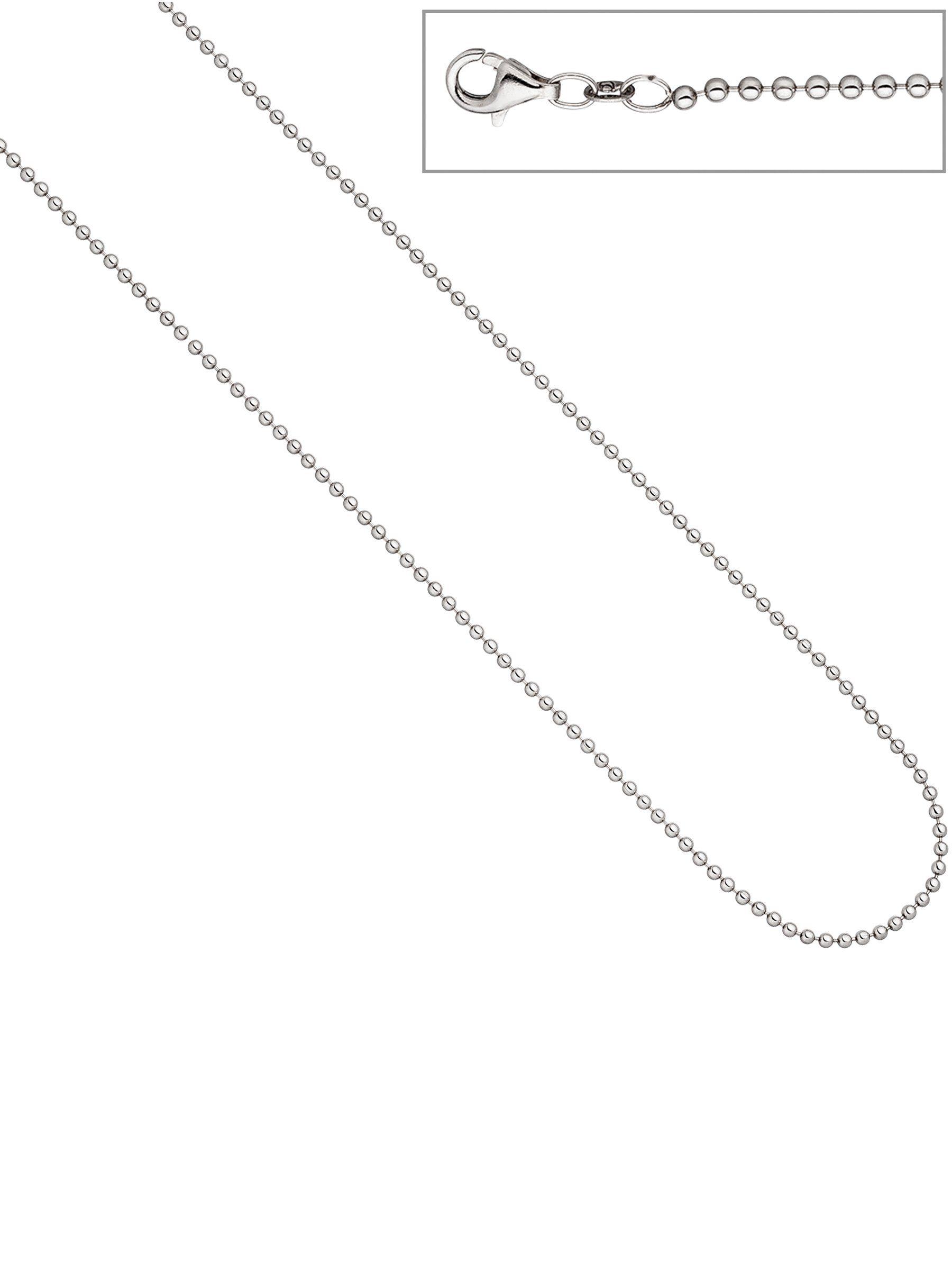 Adelia´s Kette ohne Anhänger »Kugelkette« 925 Silber L - 50 cm