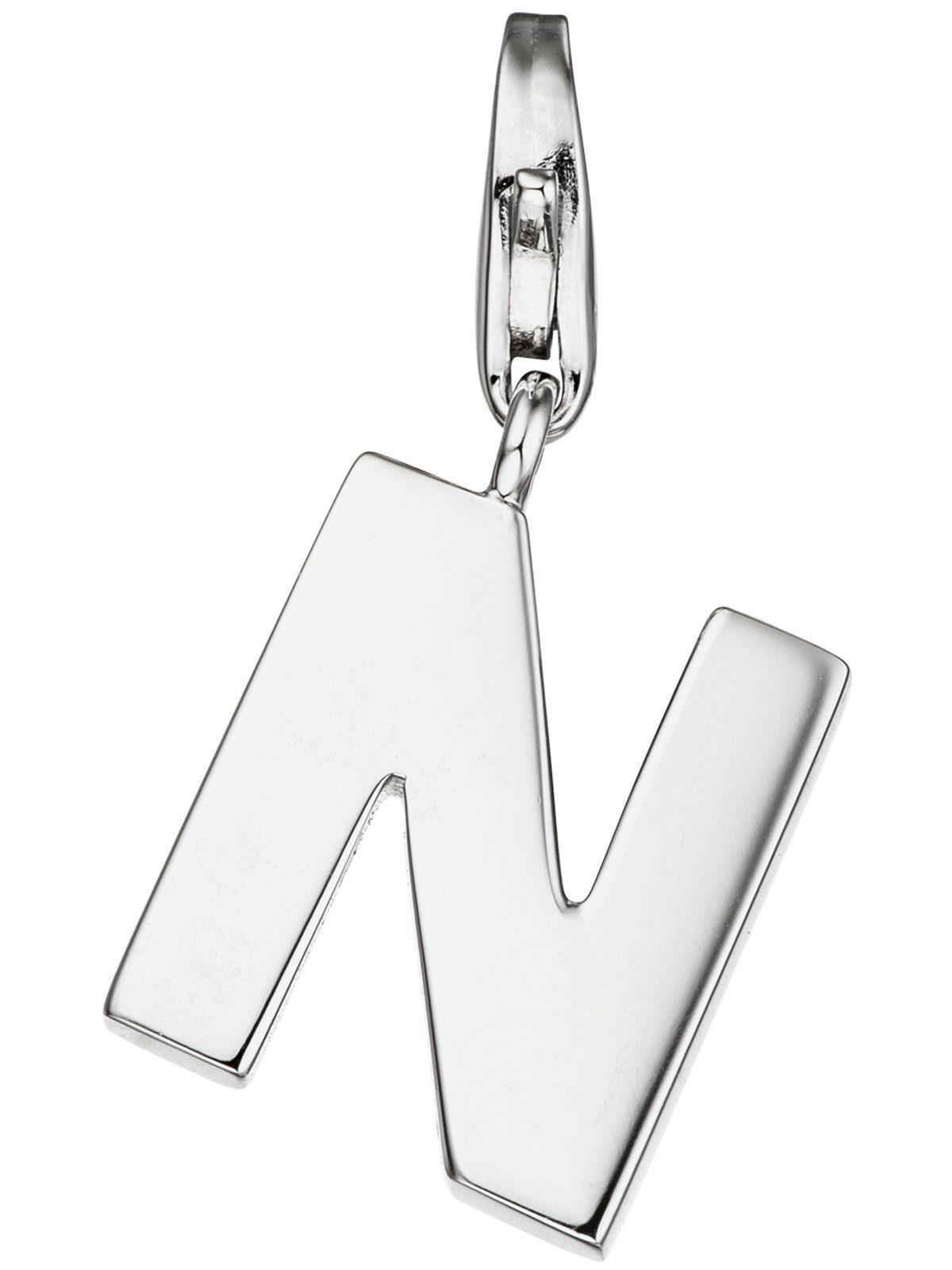 Adelia´s Kettenanhänger »Buchstabenanhänger N Anhänger«, 925 Silber