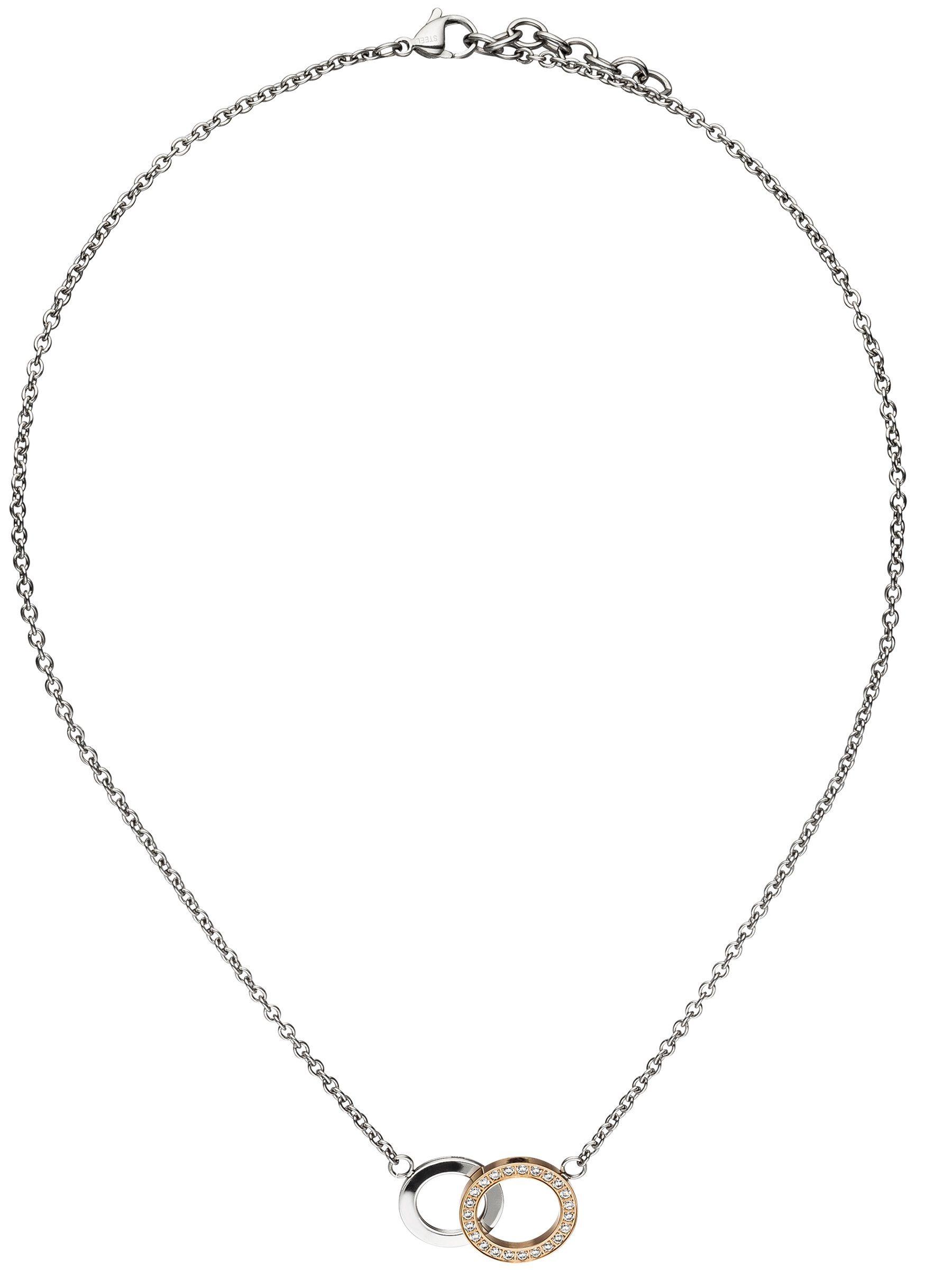 Adelia´s Kette ohne Anhänger Edelstahl mit Zirkonia L - 45 cm | Schmuck > Halsketten > Ketten ohne Anhänger | Goldfarben | Adelia´s