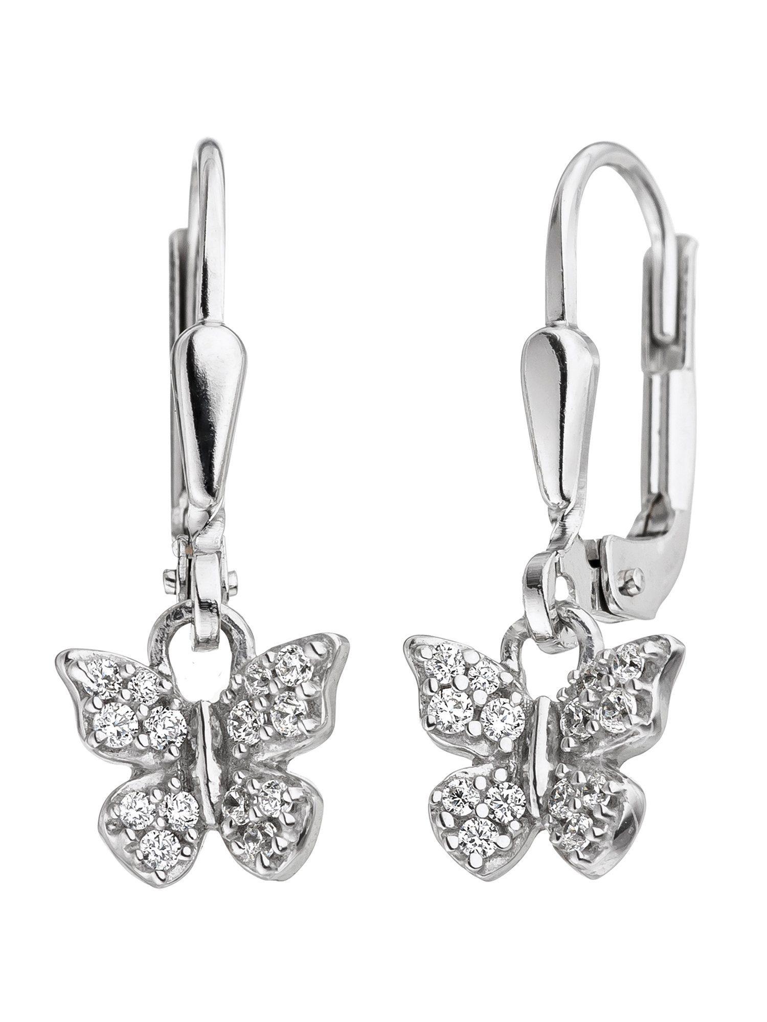 Adelia´s Paar Ohrhänger »Schmetterling« 925 Silber mit Zirkonia