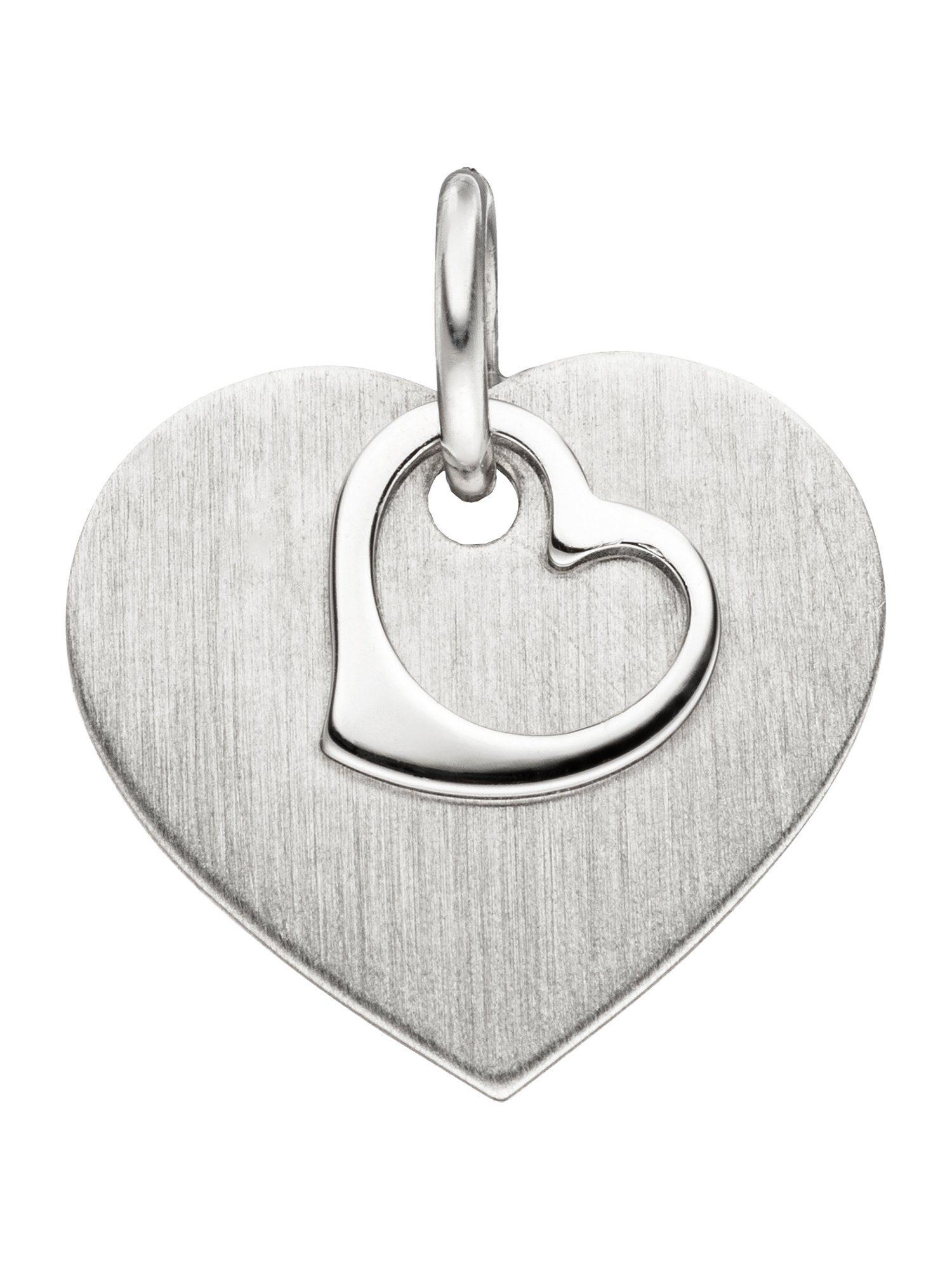 Adelia´s Kettenanhänger »Herz Anhänger« 925 Silber