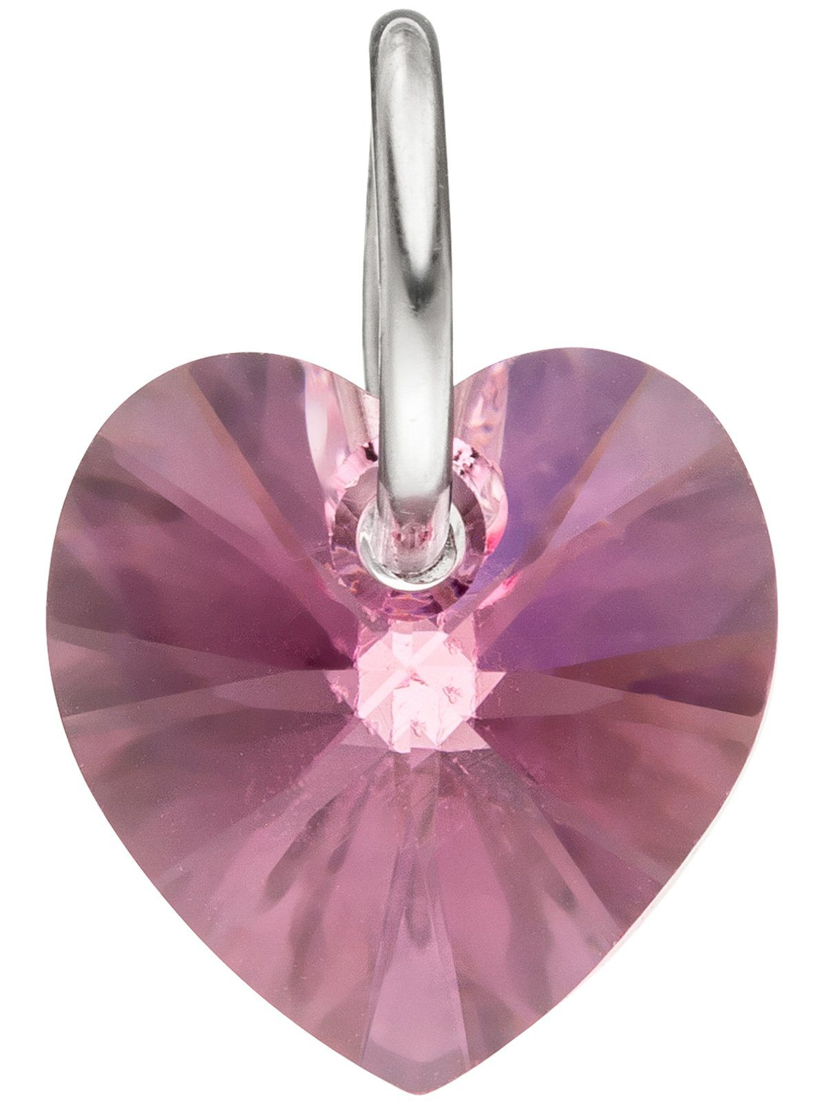 Adelia´s Kettenanhänger »Herz Anhänger« 925 Silber mit Swarovski Kristall