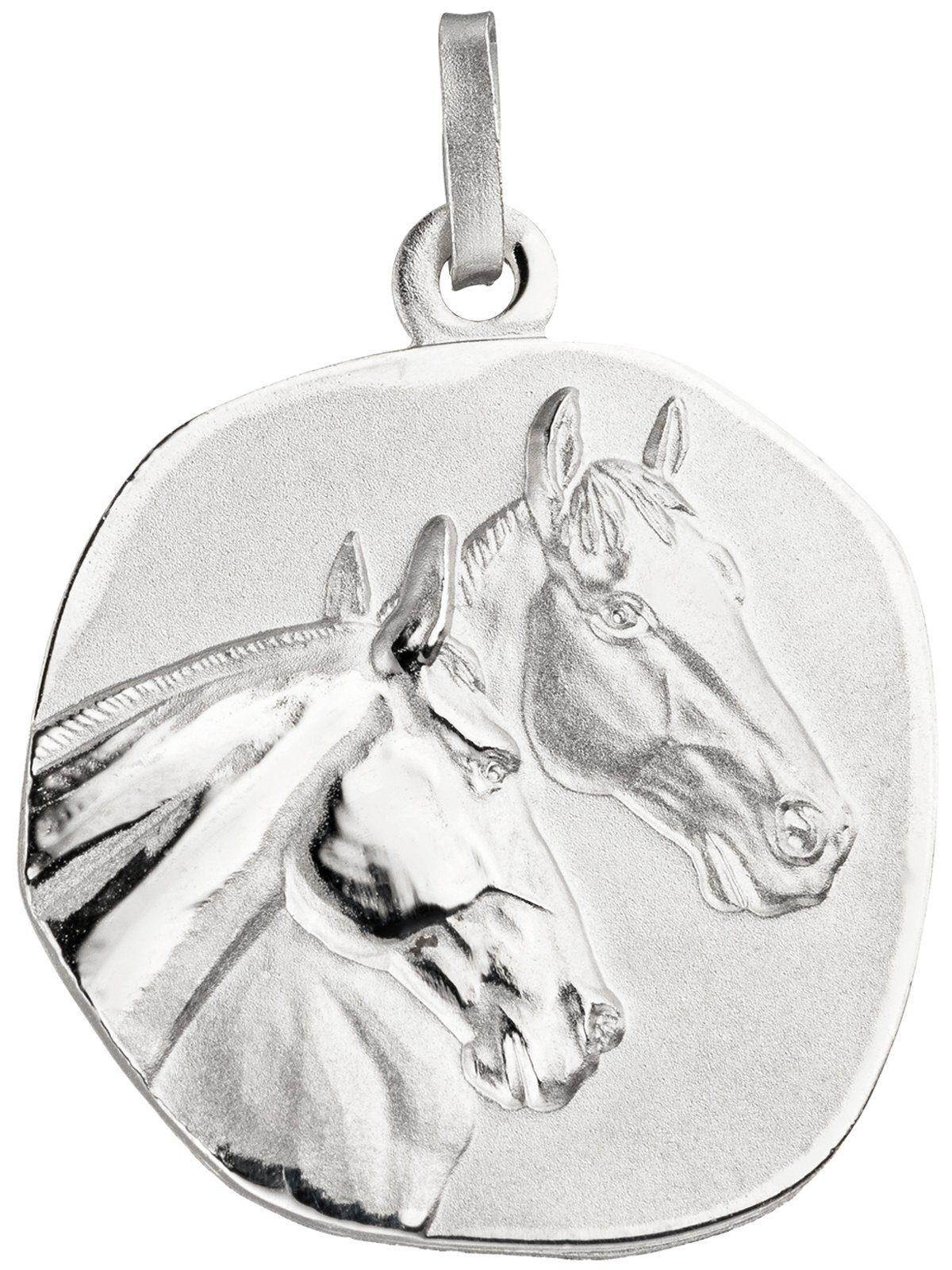 Adelia´s Kettenanhänger »Pferdeköpfe Anhänger« 925 Silber