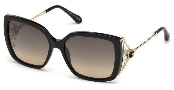 roberto cavalli Roberto Cavalli Damen Sonnenbrille » RC972S«, schwarz, 01B - schwarz/grau