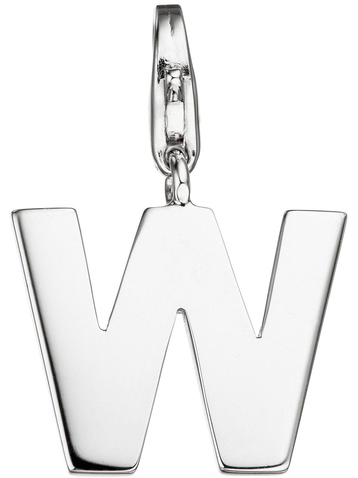Adelia´s Kettenanhänger »Buchstabenanhänger W Anhänger« 925 Silber
