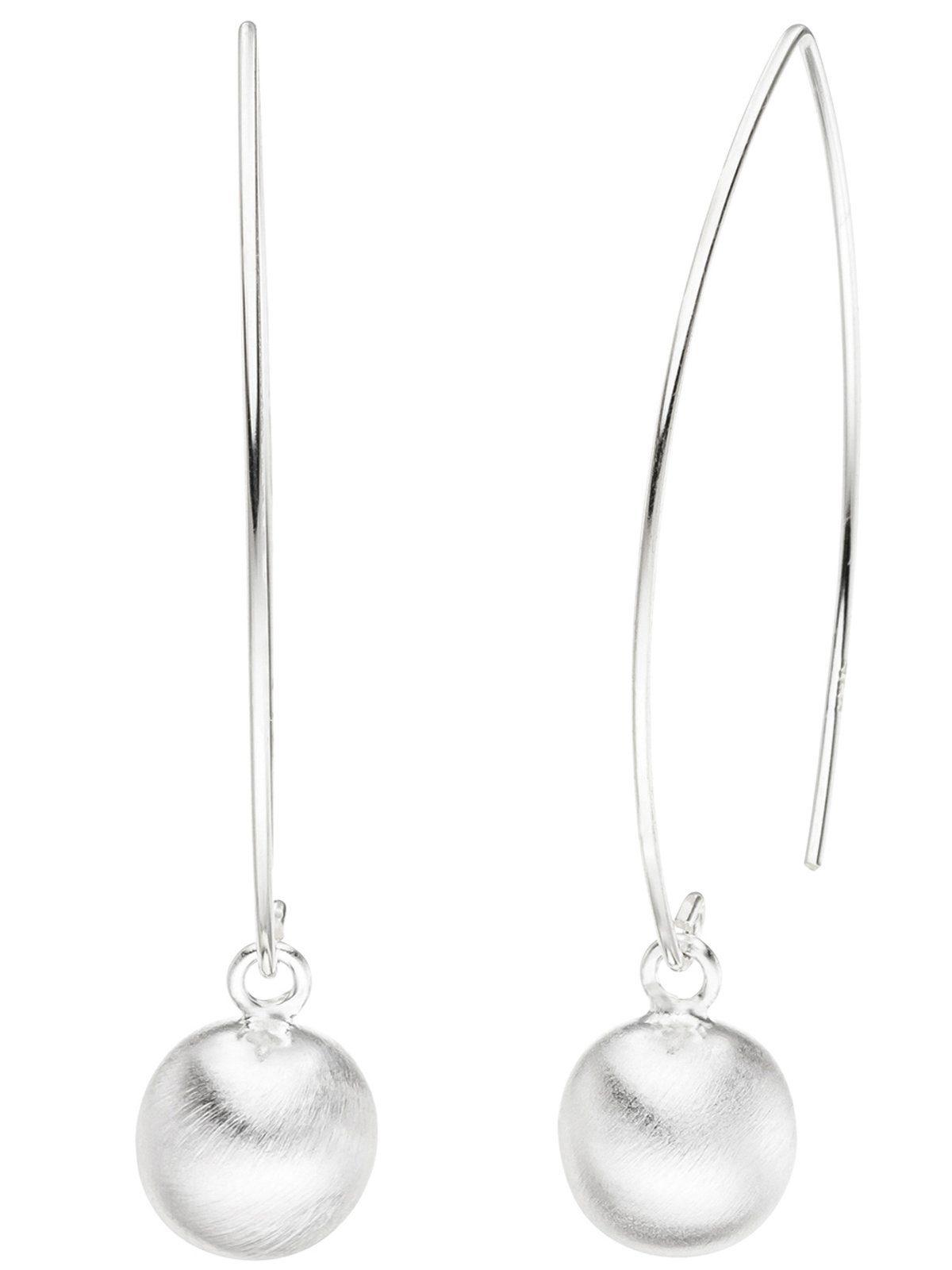 Adelia´s Paar Ohrhaken »Kugel« 925 Silber