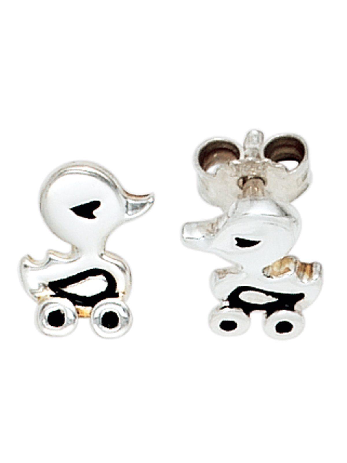 Adelia´s Paar Ohrstecker »Ente« 925 Silber