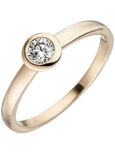 Adelia´s Diamantring 585 Gold mit Diamant