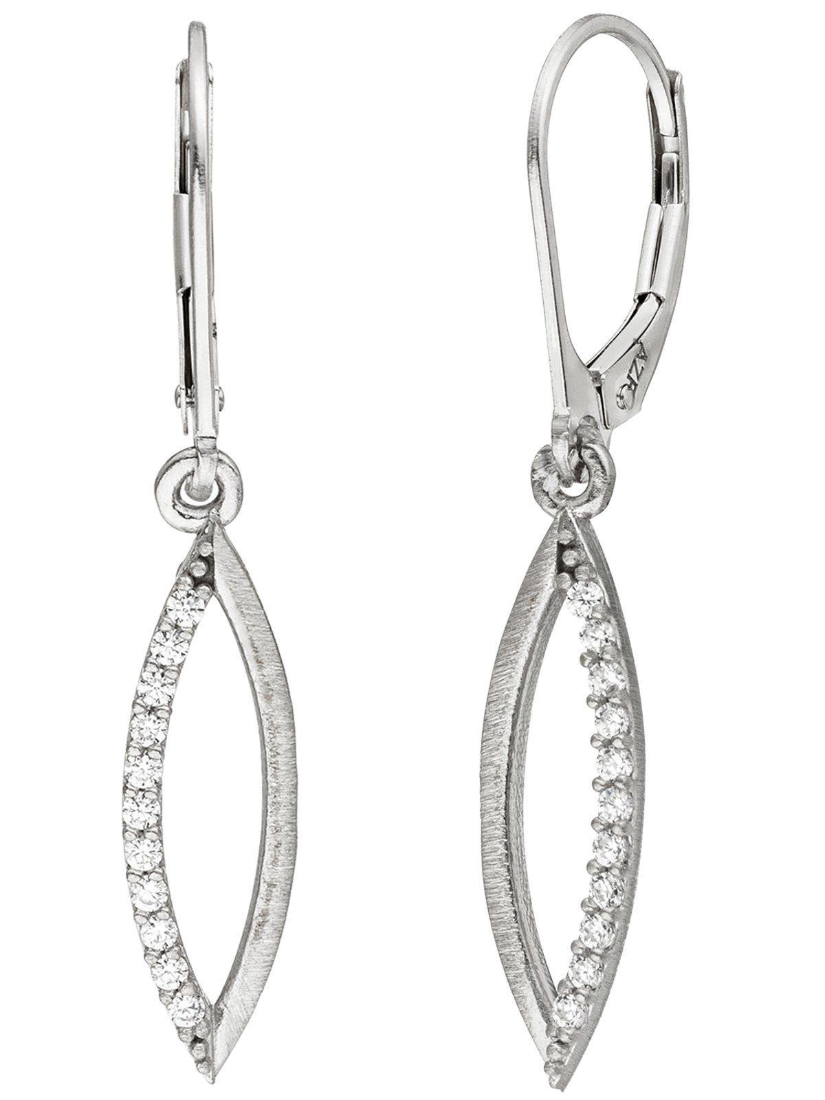 Adelia´s Paar Ohrhänger 925 Silber mit Zirkonia