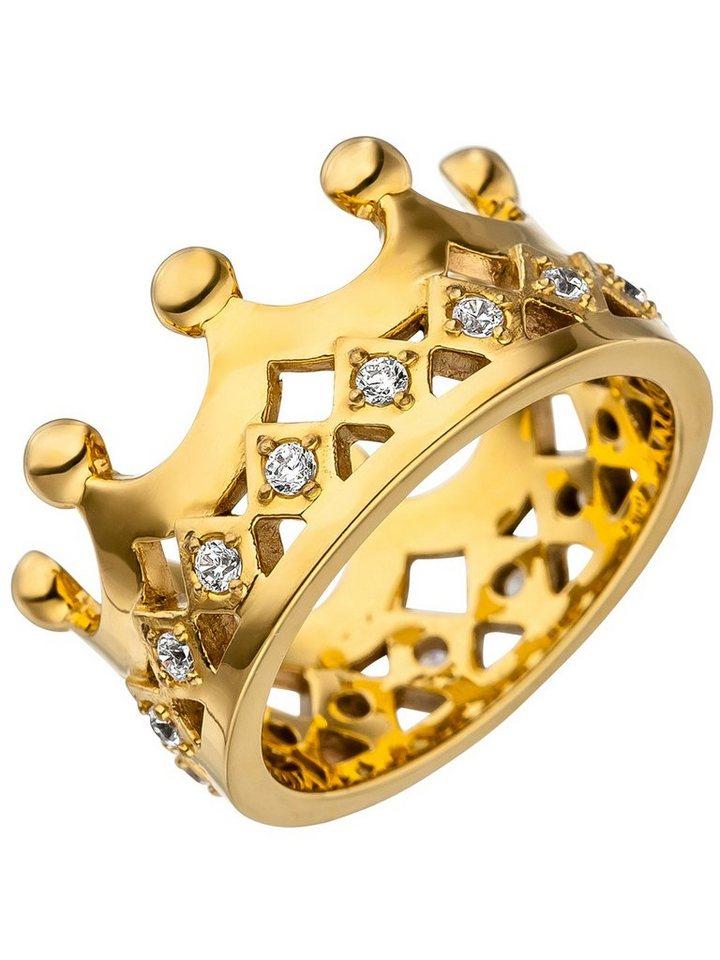 adelia s goldring krone edelstahl mit swarovski. Black Bedroom Furniture Sets. Home Design Ideas