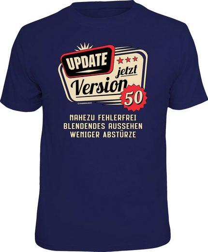 Rahmenlos T-Shirt zum 50. Geburtstag mit Aufdruck