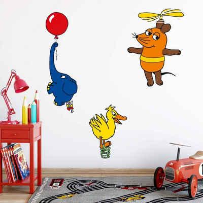 Die Sendung mit der Maus Wandtattoo »Kinderzimmer Wandtattoo Die Maus nur Fliegen ist schöner Aufkleber Wandsticker«