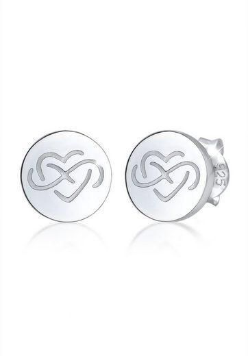 Elli Ohrringe »Herz Infinity Symbol Zeichen Sign Geo 925 Silber«