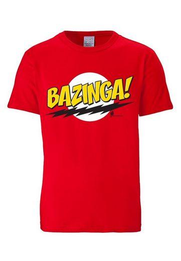 LOGOSHIRT Herrenshirt Bazinga - The Big Bang Theory