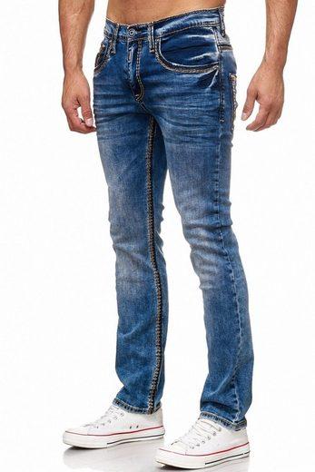 Rusty Neal Jeans mit breiten Nähten
