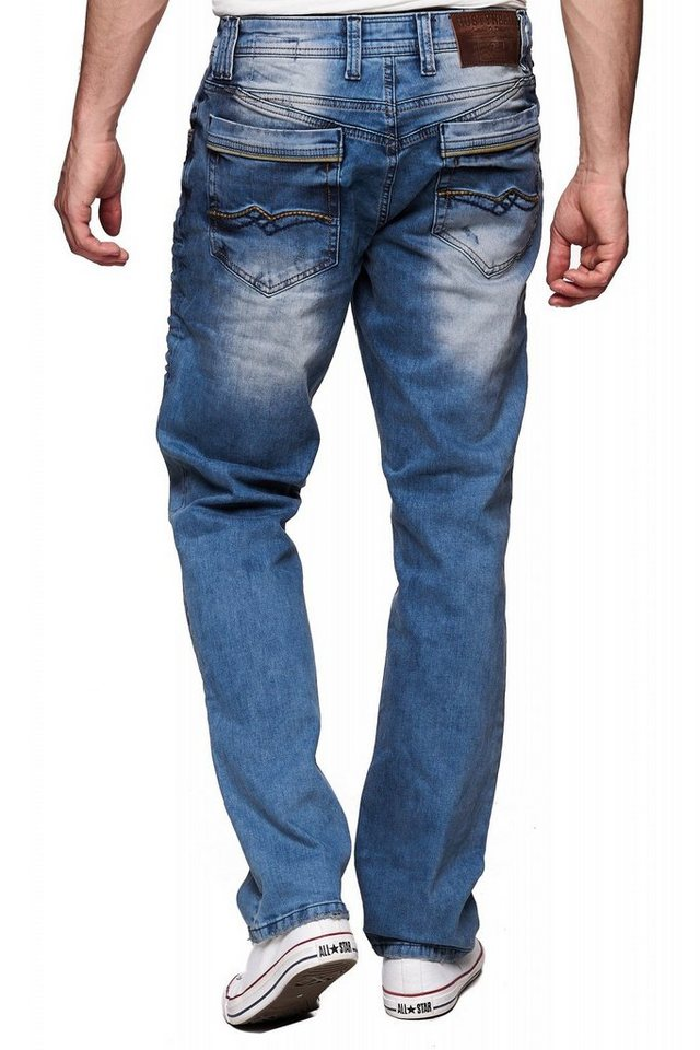begrenzter Verkauf Wählen Sie für authentisch baby Rusty Neal Jeans im Used-Look, Mittlere Leibhöhe mit zusätzlichen  Gürtelschlaufen online kaufen | OTTO