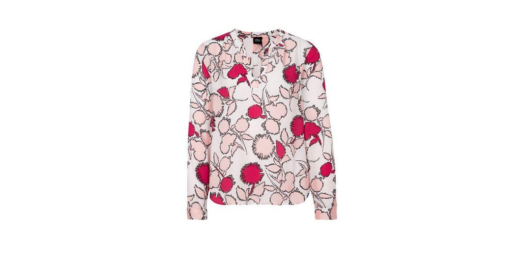 Amazonas s.Oliver BLACK LABEL Luftige Tunika mit Allover-Muster Günstig Kaufen Mode-Stil Kauf Billig Verkauf Ebay uDiRIv5CtS